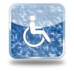 Disabilities Glossy Button