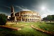 Detaily fotografie koloseum v Římě, itálie
