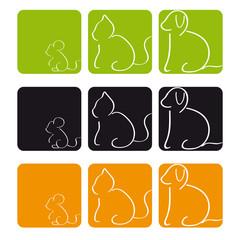 Hund Katze Maus Quadrat