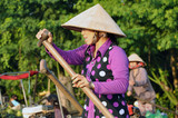 Vietnam, floating market, woman