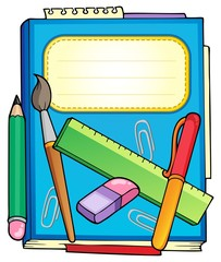 School notepad with stationery