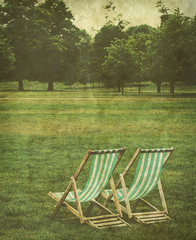 old deck chairs photo