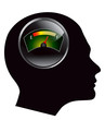 speedometer in human head vector eps 10