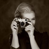 Fototapeta moda - monochromatyczne - Kobieta