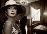 Fototapeta kapelusz - wnetrze - Dom