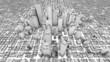 City Office Buildings Growing Time-lapse (3D)