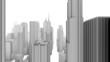 City Buildings Skyline Fly Over (Loop)