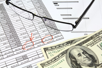Business - US dollars and documents
