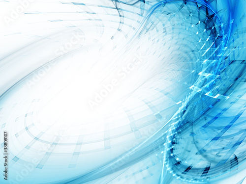 Abstract background design of blue and white