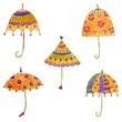 Umbrellas. Decorative elements