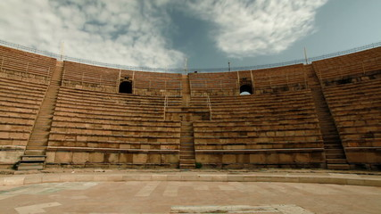 Stock Video Footage of the theater seating at Caesarea in Israel.