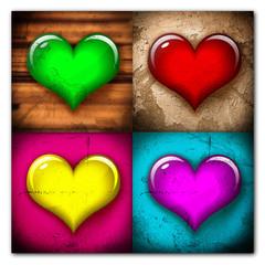 Collage - verschiedene Herzen