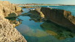 Stock Video Footage of a rocky tidal pool at the Mediterranean in Israel.