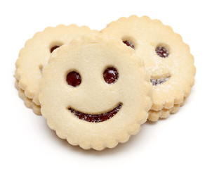 smiling cookies isolated