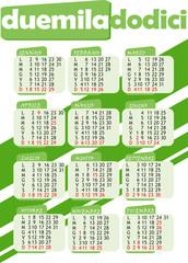 Calendario 2012 verde