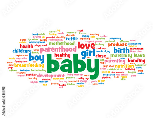 """BABY"" Tag Cloud (birth child pregnant woman maternity mother)"