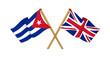 United Kingdom and Cuba alliance and friendship