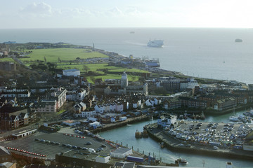 View across Portsmouth. Hampshire. England