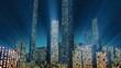 Digital Data Matrix Code City (Loop HD)