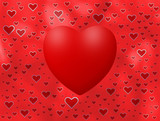 Love background with hearts