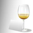ein glas weißwein - karte