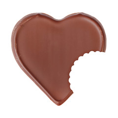 Chocolate heart shape