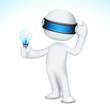 3d Man with Bulb