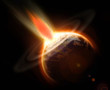 Earth mass extinction doomsday event from a comet impact