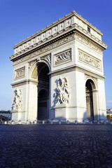 vertical view of Arc de Triomphe
