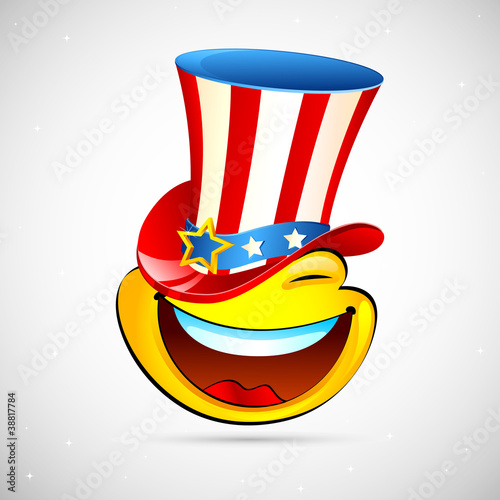 Smiley with American Hat