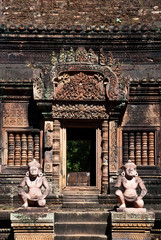 The guardians of Banteay srei in Cambodia