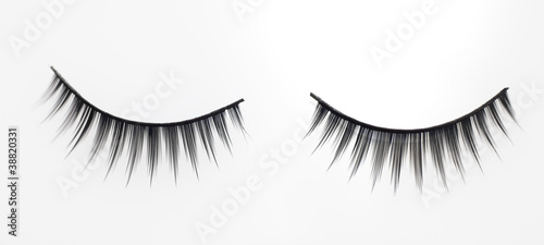 Fake eyelashes.