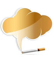 no smoking alarm cloud vector illustration