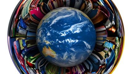Earth Globe Video Vortex
