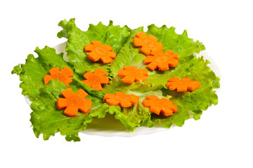 Lettuce and carrot cutting.