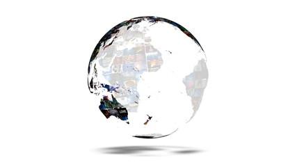 Earth Globe Video Wall Vortex