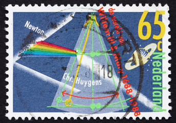 Postage stamp Netherlands 1988 Prism Splitting Light