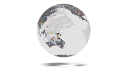 Earth Globe Dot Matrix