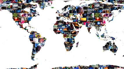 Earth Map Global Media Video Wall