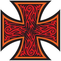 iron cross tattoo style