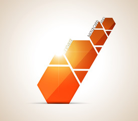 Minimalist orange background. Vector illustration.