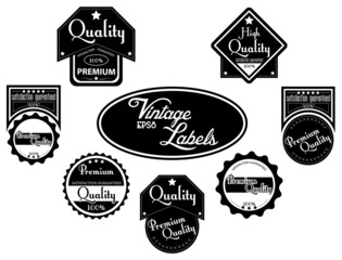 Black premium, high quality labels | stickers in vintage style.