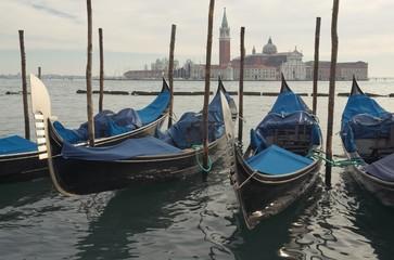 Венеция. Гондолы