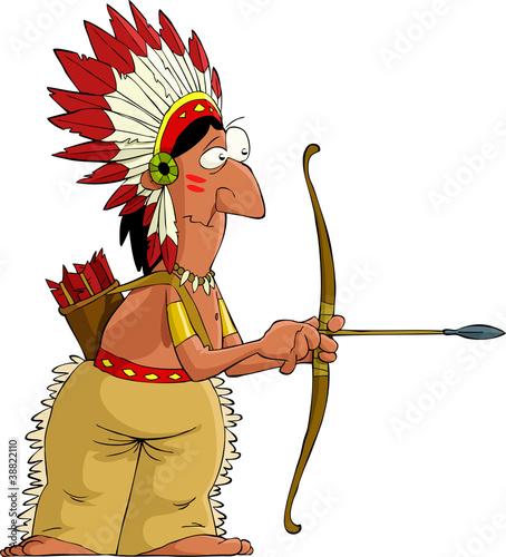 Cartoon indian