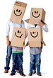 Cardboard family characters