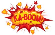 dessin animé - ka-boom (élément de bande dessinée)