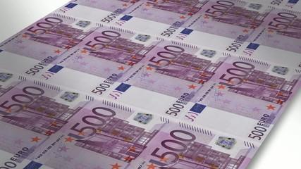 Mint - Printing 500 euro bills