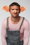 Man in pig suit