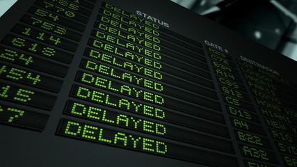 Flight Information Board - Delayed