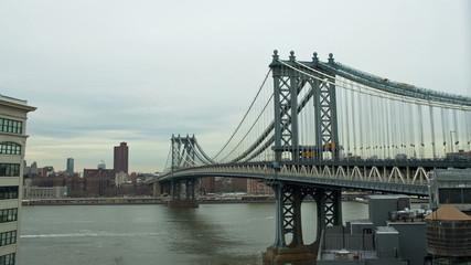 Brooklyn Bridge in New York City Time Lapse
